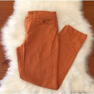 Pilcro And The Letterpress Orange Pants | Size 29